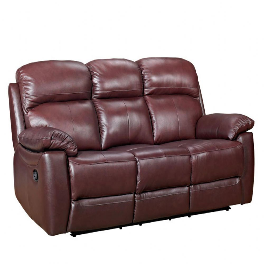 Home Essential TSA-303 - Chestnut Brown leather Sofa (1)